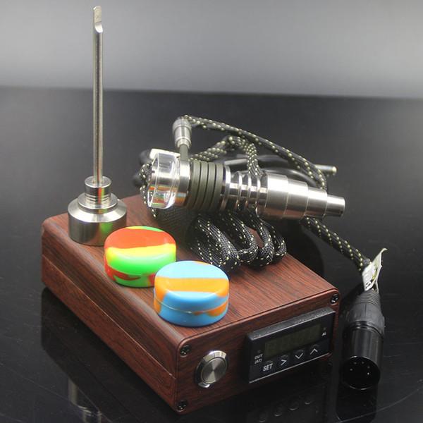 Original mini electric Titanium Dab nail universal DNail set 10 16 20mm female glass water pipe bong e cigs Rig vaporizer Kits DHL