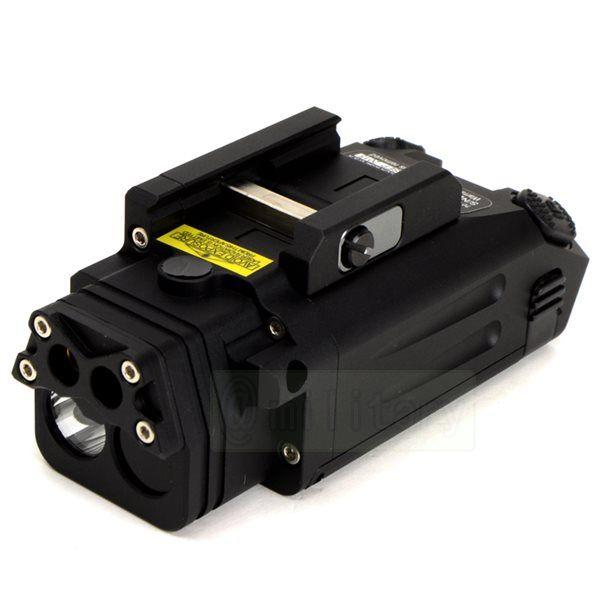 Ponteiro Laser Visível DBAL-PL / Luz Branca LED / Laser IR / Iluminador LED IR Preto