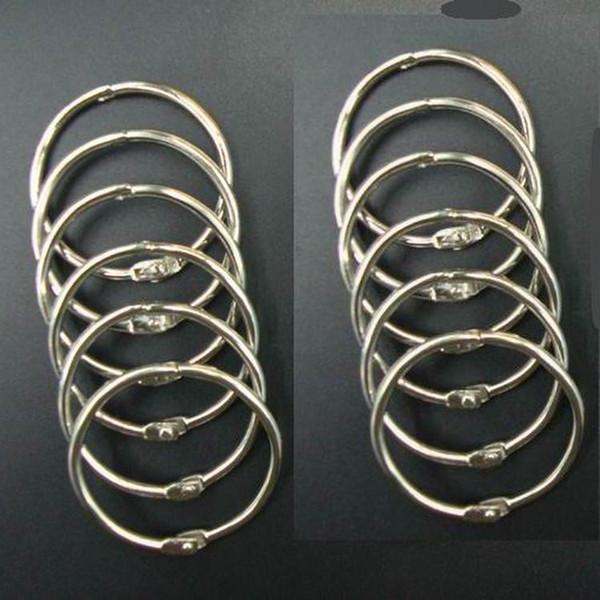 DHL Free shipping 40mm Book Hoop Binding Rings Binder Hoops Loose Leaf Ring Scrapbook Album DIY keyring