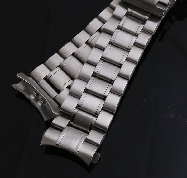 Großhandels-Gebogene Ende-Uhrenarmbänder Silberne Edelstahl-Bügel Feste Verbindungen Poliert 18mm 20mm 22mm 24mmFolgende Secutiry-Haken-Armbandmänner