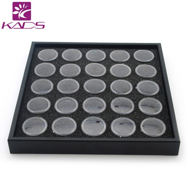 Wholesale-2015 New Arrival 25 Pots Clear Color Nail Art Display Box, Nail Art Empty Bottle For Nail Art Decoration Products Show