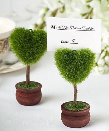 DHL 50pcs potted plant love heart tree Place Card/photo Holders Baby Shower Gifts & Wedding Favors party gift 1203#03