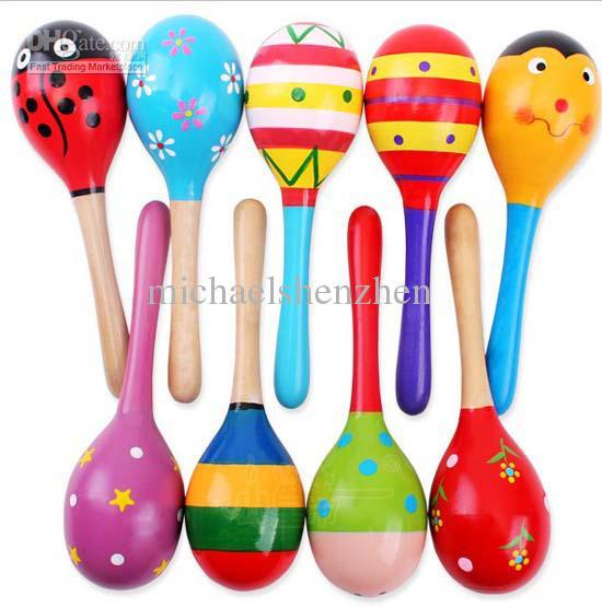 best selling Hot Sale Baby Wooden Toy Rattle Baby cute Rattle toys Orff musical instruments Educational Toys