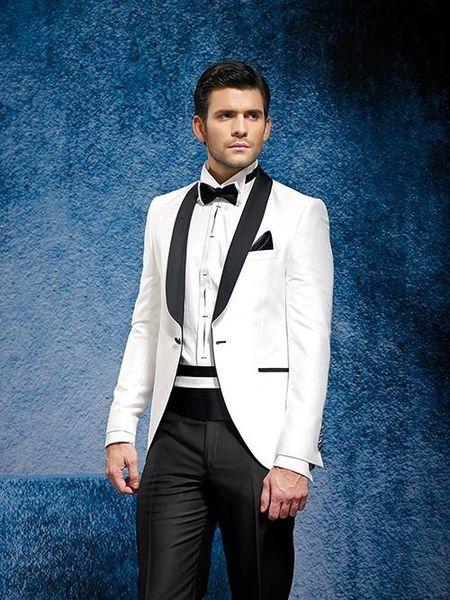 New Design Shawl Colar Groom Tuxedos Slim Fit Bridegroom Wedding ...