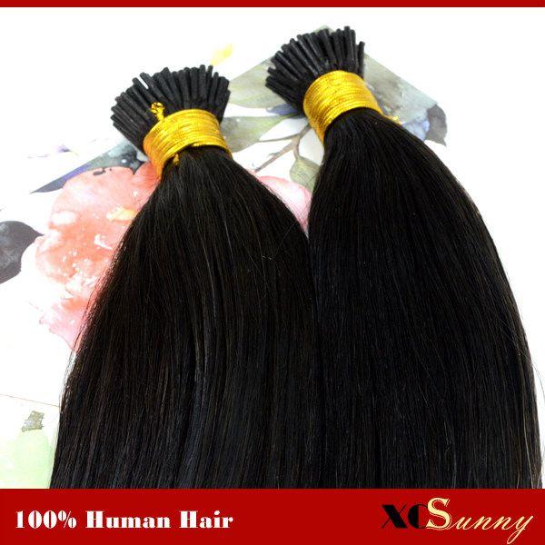 "XCSUNNY I Tip Keratin Fusion Hair Extensions 1g 18""20"" Blonde 100% Human Hair Extensions Stick Tip Hair Extensions 100g/pk"