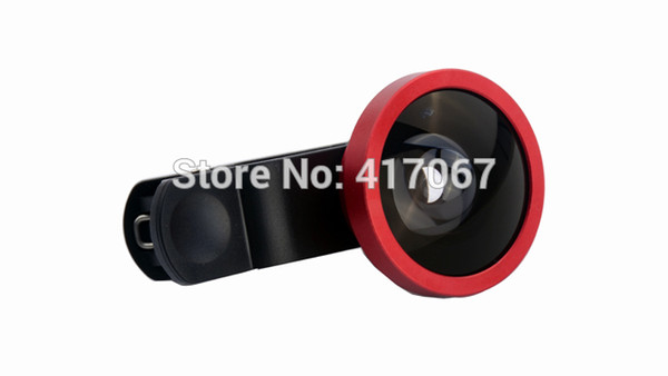 Universal Clip 0.4x Super Wide Angle Mobile Lens Removable Cellphone/Smartphone Selfie Camera Zoom Lens 8 colors For iPhone6 Samsung HTC