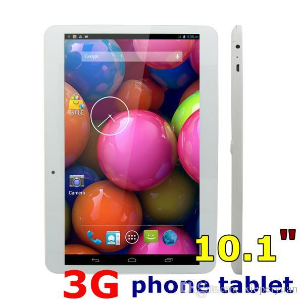 10.1 Dual SIM Quad core 3G Tablet PC 10.1 inch MTK6572 phone tablet pc 1024*600 1GB RAM + 8GB Phablet