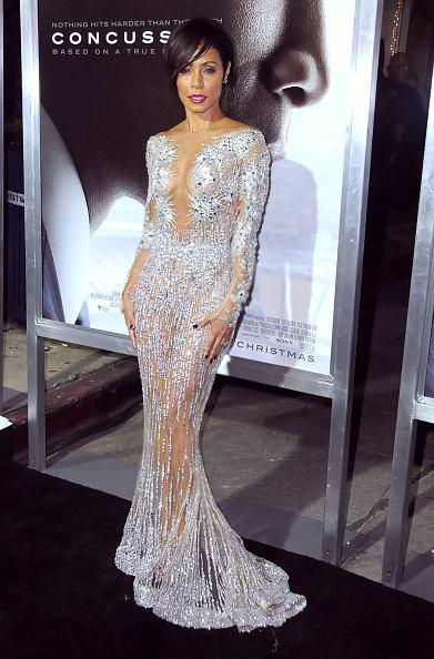 Charming Amazing Full Of Crystal Bead Deep V-Neck Zuhair Murad Formal Evening Dresses Long Sleeve See Through Sexy Party Prom Dress