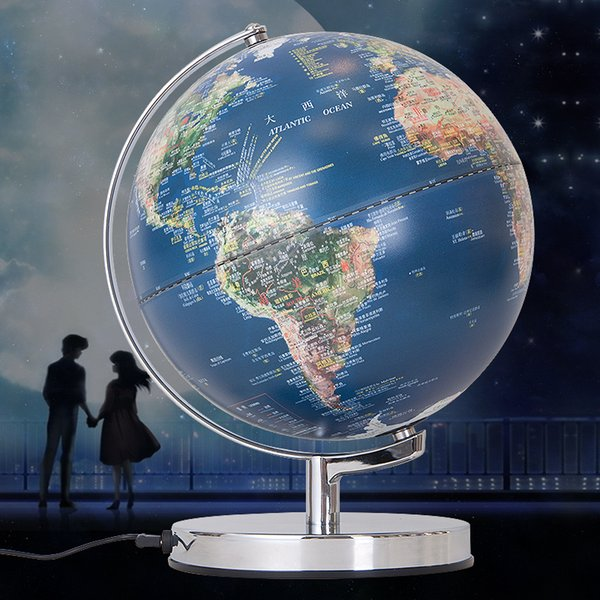 2018 modern hot sale tellurion geography teaching led globe map modern hot sale tellurion geography teaching led globe map light stainless steel decoration sphere night lights gumiabroncs Images