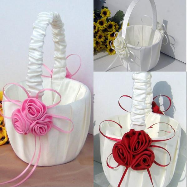 Fleur Fille Paniers Pour Faveurs De Mariage Panier Demoiselle D'honneur Pétale Panier De Mariage Accessoires Photographie Props Faveurs De Mariée Nouveau