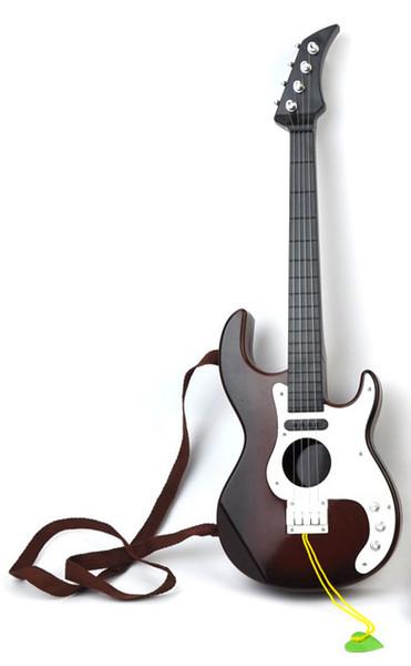 Simülasyon MİNİ gitar çocuk sahne oynayan dört dize plastik modeli üretilen müzik oyuncaklar desteklemek