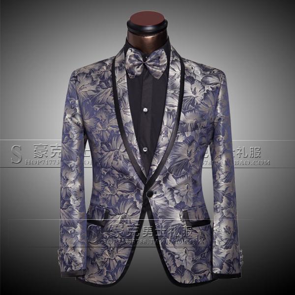 Chaquetas + Pantalones + Pajarita Trajes de lujo de los hombres Novio Vestido de padrino de boda Traje de negocios Pantalones Hombres de la boda de verano Slim Fit Bañador de plata para hombre Trajes 2017