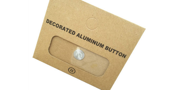 Wholesale-Free shipping Metal Home Button Sticker And retail packaging for apple iPhone 4 4s 5G 5C 5S