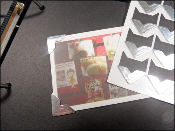 Nouveau coin de papier pour le protecteur de photo pour l'album beaucoup de couleur pour le choix