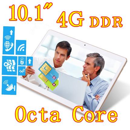 10.1 inch 8 core Android 6.0 Octa Cores 2560*1600 4GB ram 64GB Camera 3G sim card Wcdma+GSM Tablet PC Tablets pcs