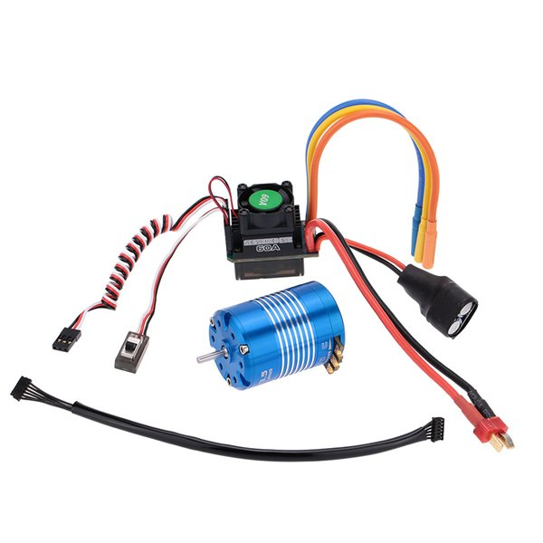 2019 60A Sensored Sensorless Brushless ESC Electronic Speed Controller +  540 13 5T Sensored Brushless Motor For 1/10 RC Car Order≪$18no Track From