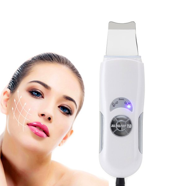 top popular High Quality Ultrasonic Face Cleaning Skin Scrubber Cleanser Facial Lifting Therapy Peeling SPA Ultrasound Peeling Cleasing Machine 2020