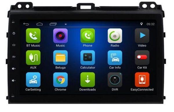 Free Shipping Android 6.0 9inch Car Dvd Gps for Toyota Prado 120 2004-2009 4-Core 1GB 16GB Steering wheel control wifi 3G