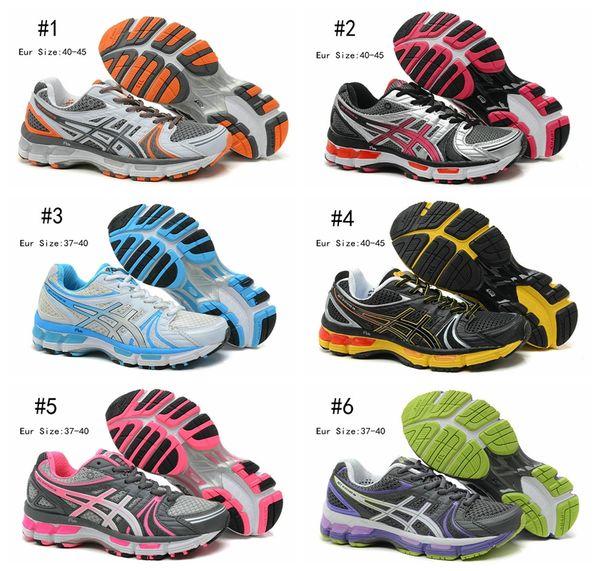 Compre Nuevo Asics Gel Kayano 18 Zapatillas De Running Para Hombres De Las Mujeres, Talón De La Manera Que Agarra El Sistema Biomorphic Fit Zapatillas
