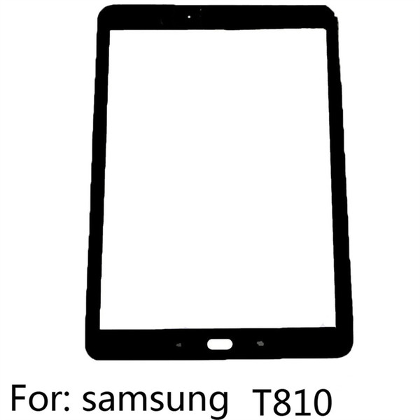New T810 For Samsung Outer Glass Lens Replacement Parts for Samsung Galaxy touchscreen Front Screen Glass