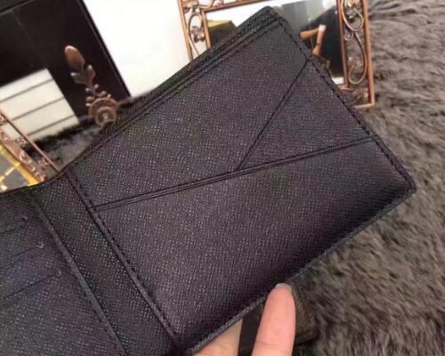 Men genuine leather wallet famous brand designer wallets men credit card holder short wallets business purse carteira masculina black