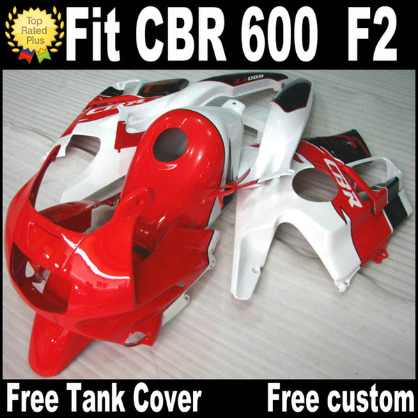Free 7 Gifts fairing kit for HONDA CBR 600 F2 1991 1992 1993 1994 white red black fairings CBR600 91 - 94 motobike RF9