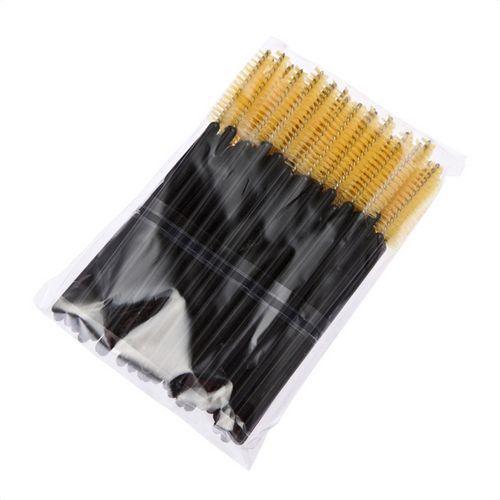 Big promotions ! One-Off Disposable Eyelash Eyelashes Brush Brushes Mascara Applicator Wand Brush Lash Brush 4 Colors 50pcs/pack