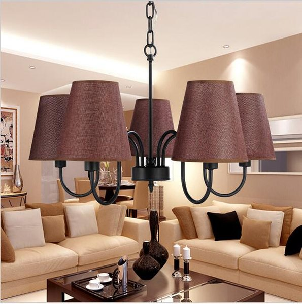 Retro Loft modern Vintage pendant light for living room dining room black white home decoration pendant lamp fixtures