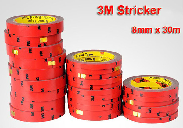 8mm x 30m 3M Auto Double Foam Faced Super Adhesive Tape Vehicle Double Sides Sticker Double Tissue Tape For Car NEW Free Shippin