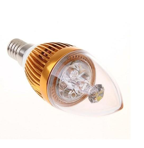 Neue Ankunft E14 9W 3x3W LED Kerzenlicht Dimmable E14 der geführten Glühlampe-Lampe AC85V ~ 265V Freies Verschiffen CEROHS