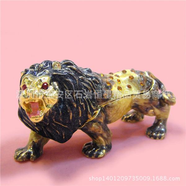Fábrica directa de una generación de artesanías de metal gordo decoraciones para el hogar creativas adornos regalo de cumpleaños diamante león