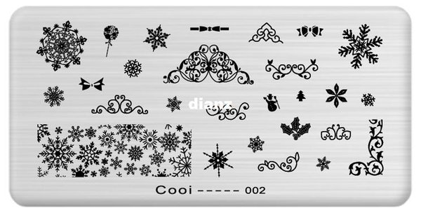 New Arrive Nail Template Cooi Series Nail Art Plate Stainless Steel Image Konad Nail Art Stamping Template DIY Nail Tool