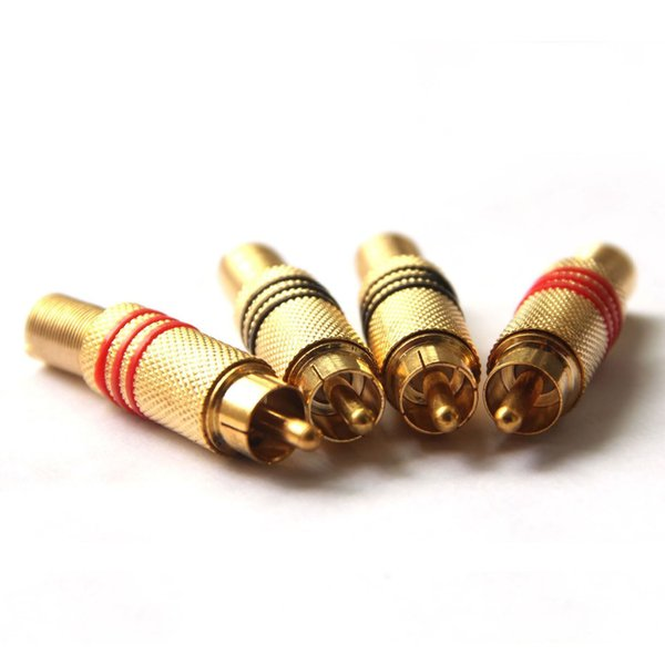 Factory direct gold plated lotus welding head RCA welding head gold plated AV head audio plug