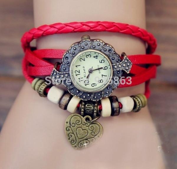 Wholesale-Wholesale reloj de pulsera Women Dress Watches Luxury Brand Leather Strap Quartz Wristwatches Clock For Cheap