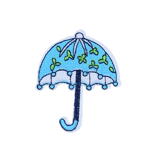10PCS Umbrella Patches for Clothing Bags Iron on Transfer Applique Blue Patch for Kids Jeans DIY Sew on Embroidery Badge