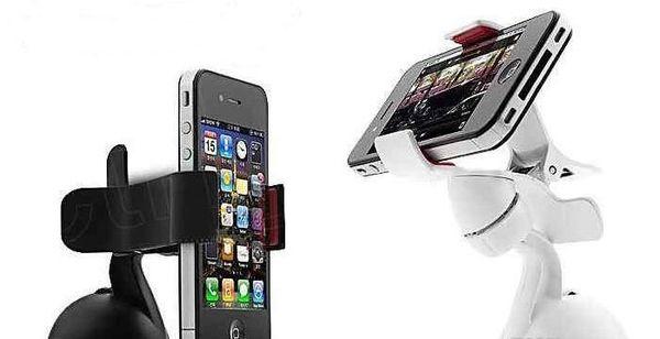 El teléfono móvil de la célula del soporte del parabrisas del coche de 360 grados monta el soporte de los soportes para iPhone5 4S para Samsung Smartphone