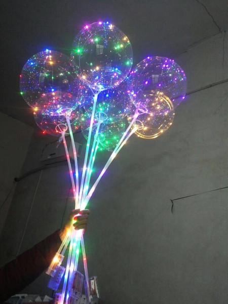 Globo de 18 pulgadas + tira de luz de 3 m + palo