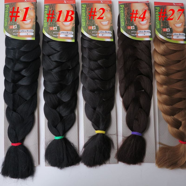 best selling Xpression jumbo braids Hair 82inch 165g single color Ultra Braid Premium Kanekalon Synthetic braiding hair extensions 13colors Optional