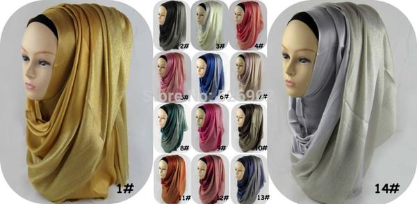 Gros-écharpe de mode nouvelle 2015 femelle surdimensionné cou 1/4 chatoyant et 3/4 plaine viscose musulman islamique Hijab châle 175 * 70 cm livraison gratuite