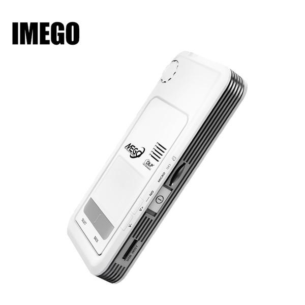 Toptan Satış - IMEGO Projektör Android Sistemi akıllı Akıllı Mini Led Pico Projektörleri HD DLP Cep Mobil Video Açık Multimedya Ben