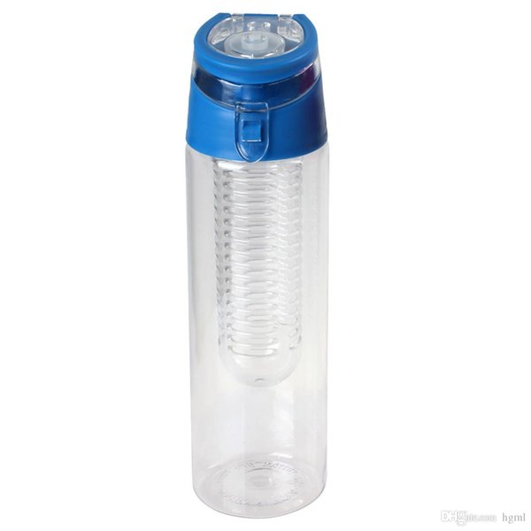 New 700ml Water cups Plastic Water Bottle Water Infusion Bottle with Flip Lid - 3 Colors Optional CYC_347