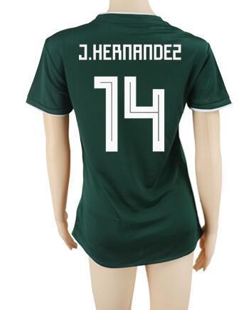 TOP 18-19 Mexique Femmes 7 chemises de maillots de football de qualité thaïlandaise de Lopez, 14 J.Hernandez Chicharito 9 maillots de football de R.Jimenez, vêtements de football