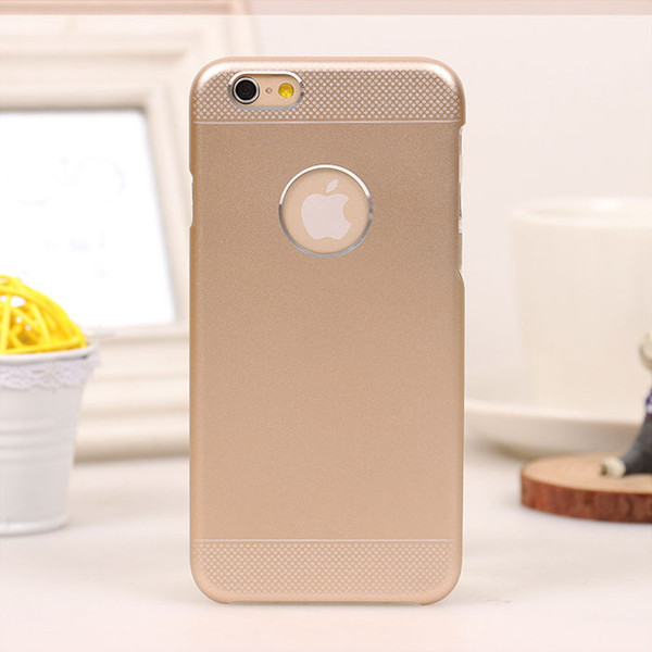 Luxury 2 in 1 Brushed Aluminium Hard Case + PC Back Cover for iPhone 6 Plus 5.5 inch Deluxe Ultra Thin Metal Phone Shell