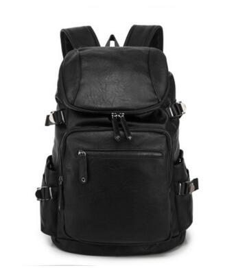 sales brand mens bag new simple light Mountain Travel Backpack comfortable soft leather leisure brand travel Student bag Computer Backpack