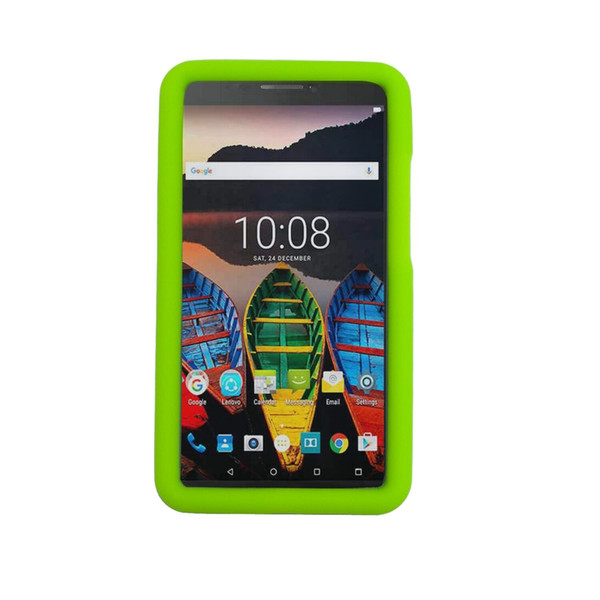 MingShore Silicone Rugged Case For Lenovo Tab 3 7 Plus Model TB-7703X TB-7703F 7.0 Tablet Cover