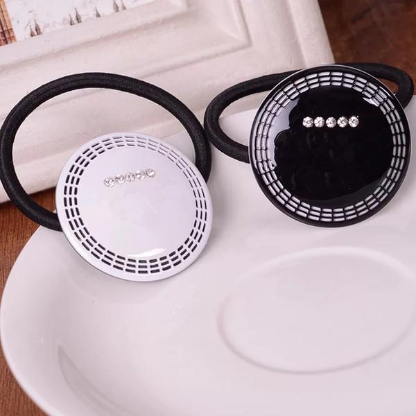 Belle conception avec cravate en strass Collection d'accessoires de luxe item item Logo Corde en acrylique pour cheveux Cadeau cadeau VIP de bonne qualité