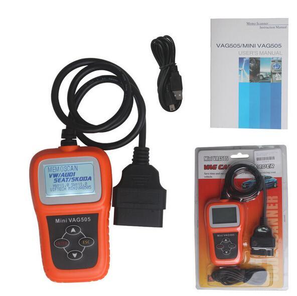 Newest Mini VAG505 Super Professional Diagnostic Scanner Reader For VW AUDI Support UDS vehicle protocols