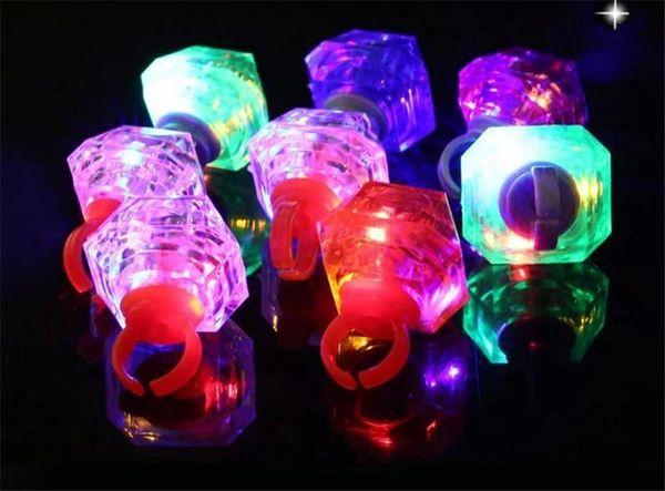 Frozen Large Diamond Ring Luminous LED Rings Emitting Products LED Flashing Light Ring Party Disco Finger Lights Halloween Christmas Festiv