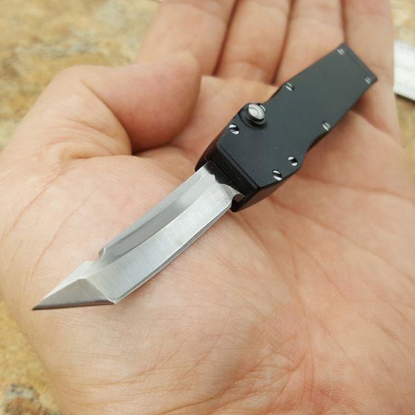 Mic Halo mini SpearTanto T6061 aluminio manija aviación 100% hoja D2, cuchillo de cuello regalo su navaja de bolsillo