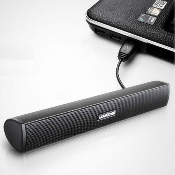 SPEDIZIONE GRATUITA IKANOO USB COMPUTER PORTATILE SOUND BAR DIFFUSORE MINI COMPUTER ALTOPARLANTE SOUNDBAR HIFI E POTENTE SUONO SUPER BASS